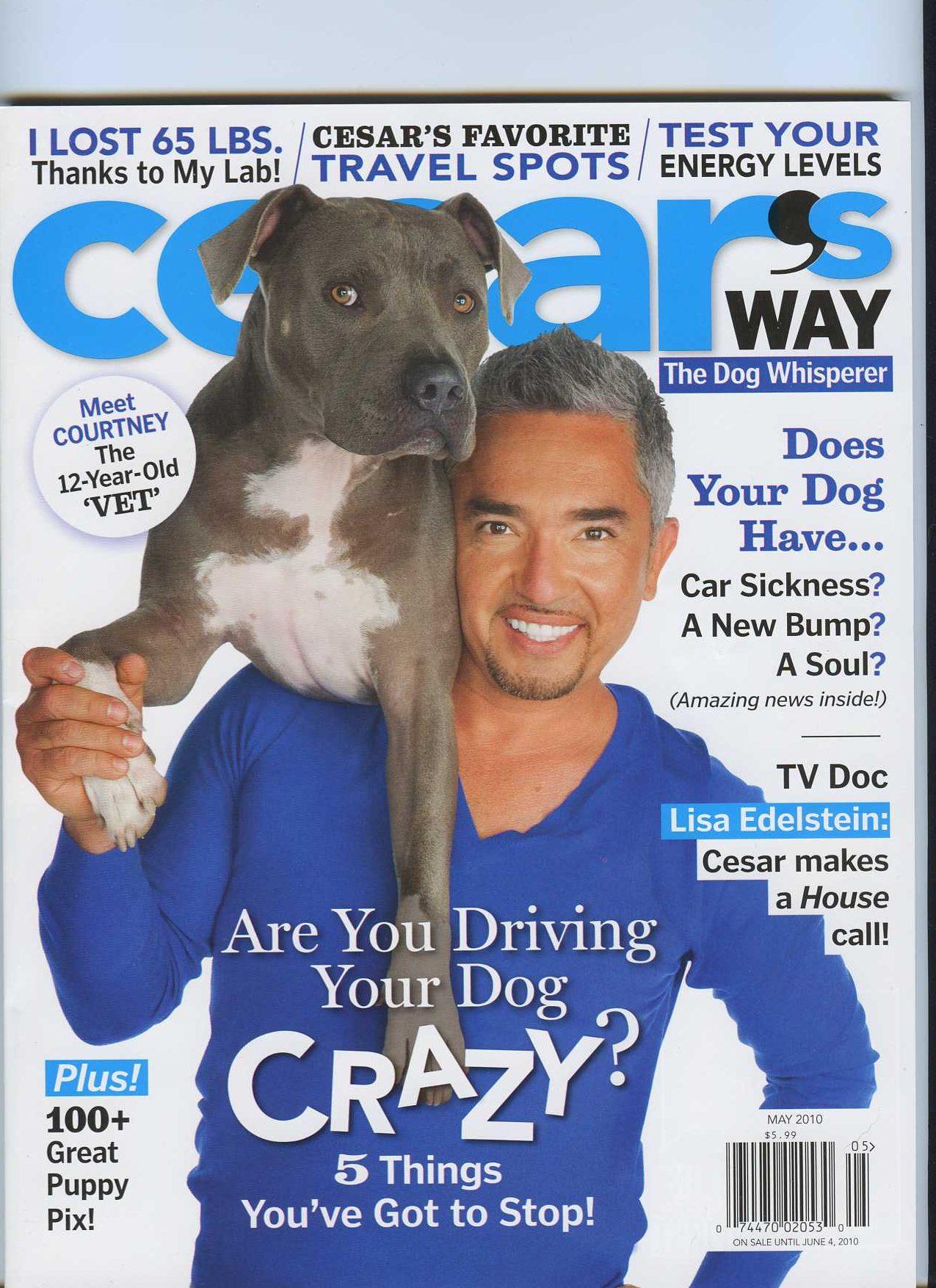 Cesar Milan Magazine cover May 2010
