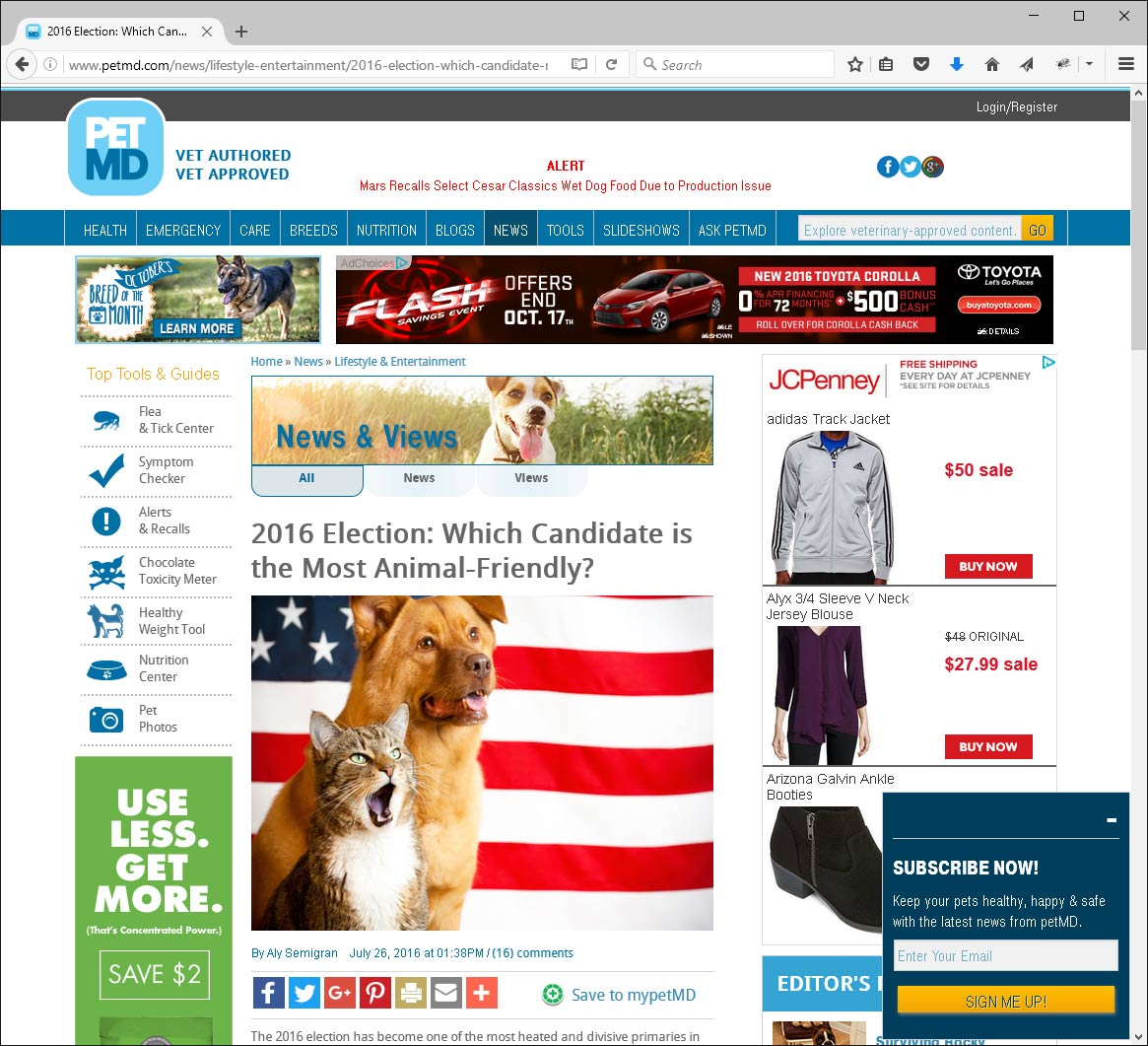 Qtip and Skippy are helping to find the most pet friendly candidate(s) for this election!